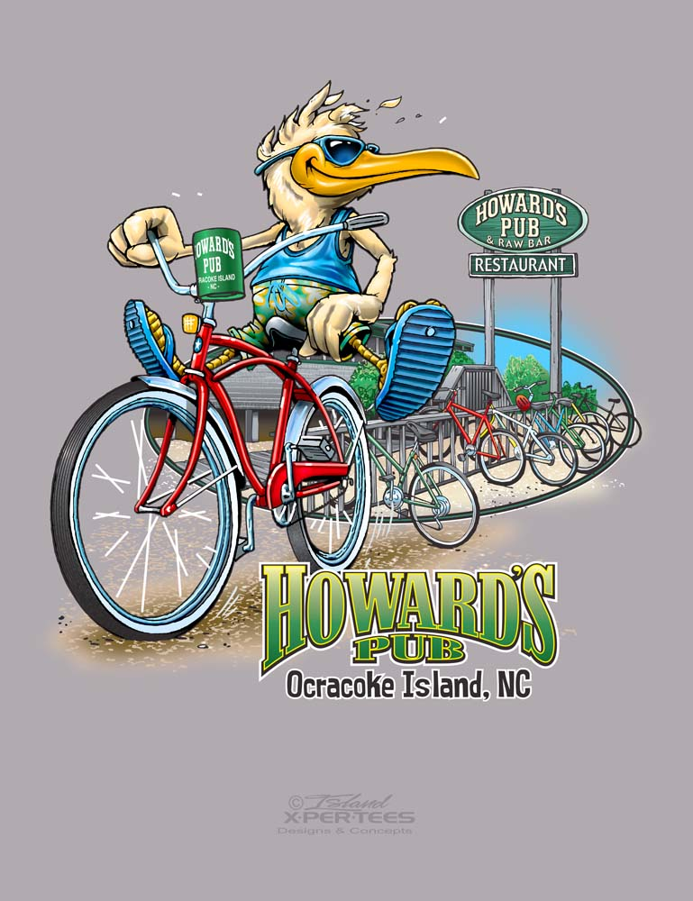 Howard's Pub Bike Rack Tee
